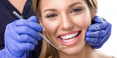 Woman smiling dentist dental visit