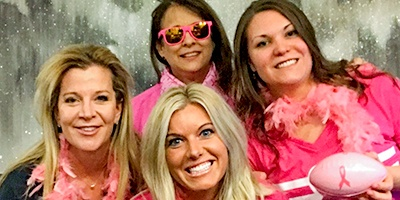 Dr. Anderson and team rocking pink clothes